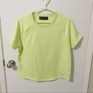 NWOT Under Armour French Terry Short Sleeve Top, M